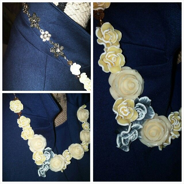 Yellow Rose Bud Necklace