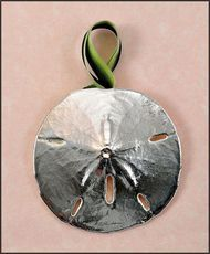Silver Sand Dollar Ornament