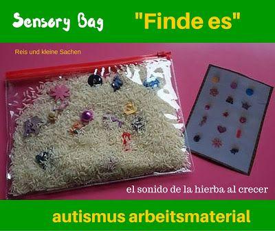 Autismus Arbeitsmaterial: Sensory Bag: Finde es