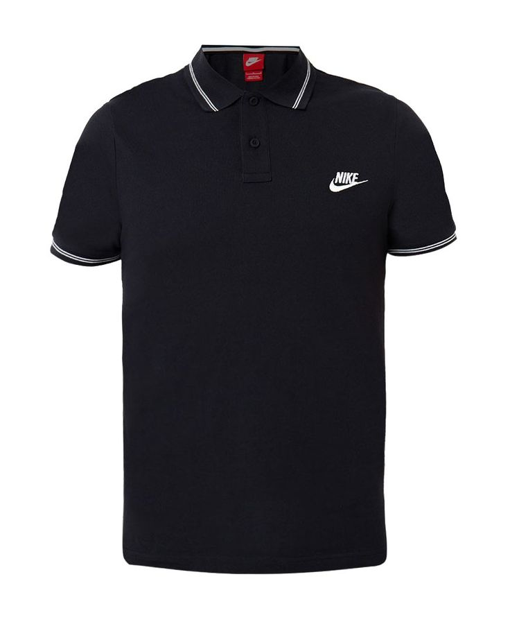 As Gs Slim Polo by Nike. Black slim fit polo shirt, made from cotton, with a white list accent on the sleeve and neck, front button, Nike logo embroidery with white color, perfect for your casual style or a sporty style. http://www.zocko.com/z/JFUQN
