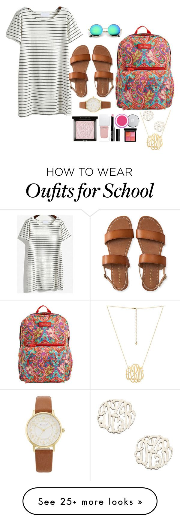 """""""CONTEST ENTRY///LAST DAY OF SCHOOL"""" by sydneerees on Polyvore featuring Vera Bradley, Aéropostale, Kate Spade, Givenchy, Danielle Stevens and dreamfirstweekofsummer"""