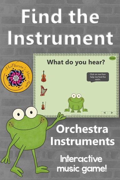 Find the Instrument! Your elementary music classes will love this interactive game while reviewing the orchestra instruments! Engaging lesson for Orff and Kodaly classrooms!