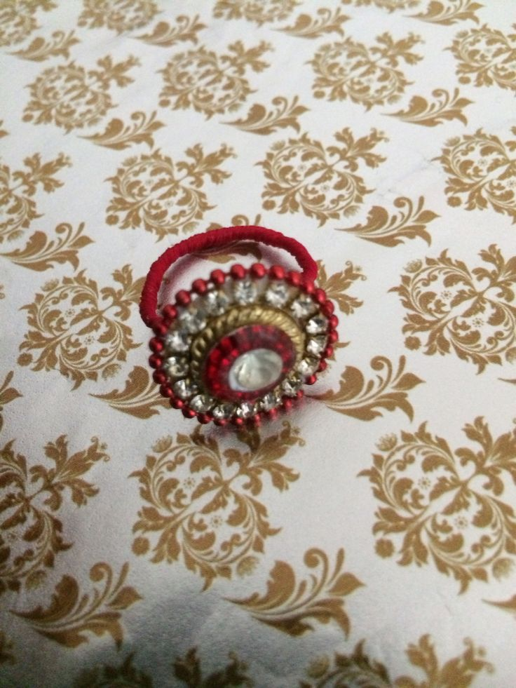 Ring with silk thread