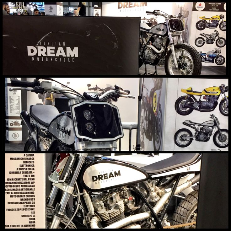 Dream's Tracker 600 IDM in EICMA #motorcycle #flattrack #awards #special #scrambler #caferacer #handmade #madeinitaly #unique