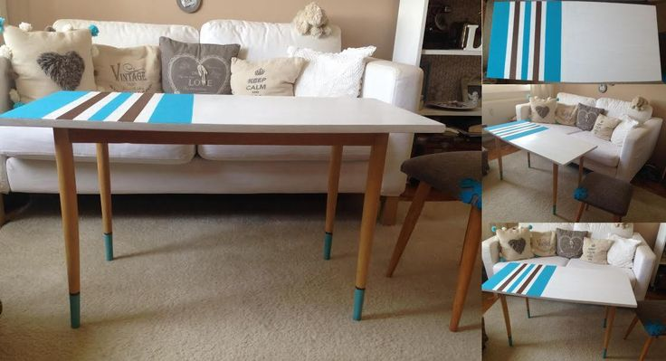 Mid Century Modern Retro Coffee Table by ByBeeSee on Etsy