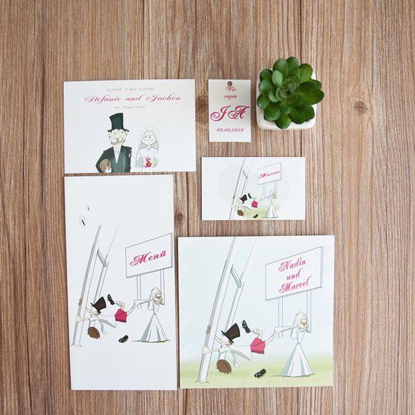 Witzige hochzeitseinladung quadratisch kp233 wedding for Pinterest hochzeitseinladung