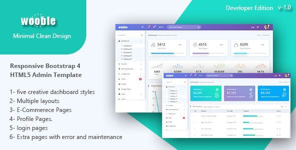 Wooble A Minimal Ecommerce And Corporate Admin Template Columns3 Admin Admin Dashboard Admin Template Admin Themes Bootstrap Busine Templates