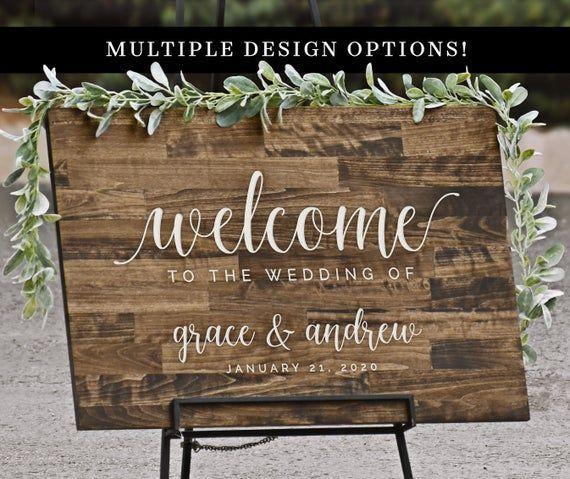 Rustikale Willkommensschild Holz Hochzeit Willkommensschilder W001 Wood Wedding Signs Rustic Wedding Signs Wood Wedding Signs Rustic