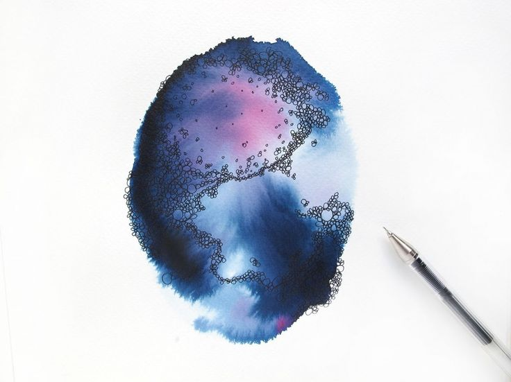 DIY -  Make your own wall art with watercolor and pen