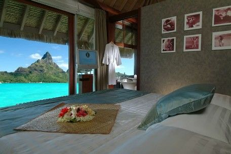 Bora Bora.  View from a room in the Intercontinental Bora Bora Resort.  AAhhhh....just ad ME!
