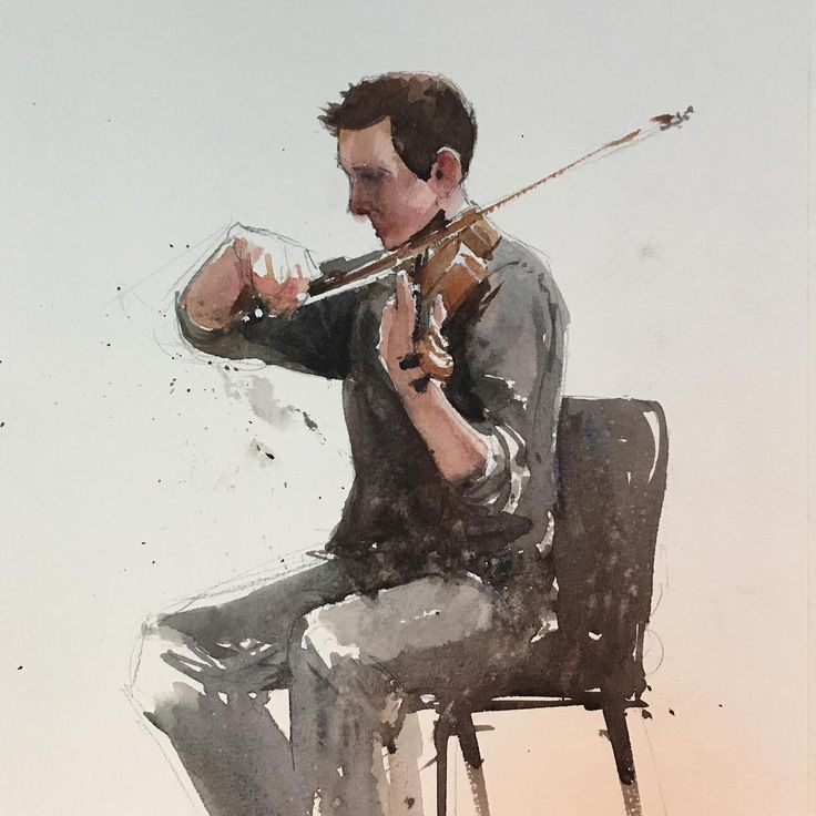 """632 mentions J'aime, 5 commentaires - Judd Mercer (@juddmercer_art) sur Instagram : """"Another #musician #sketch from my trip to the @coloradosymphony #rehearsal. A younger chap with way…"""""""