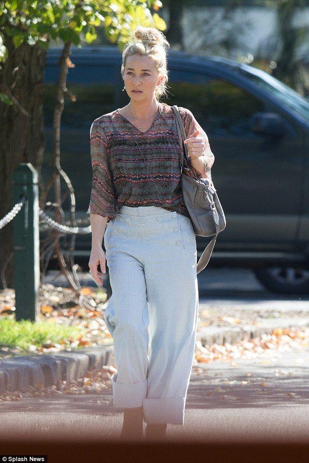 TV star: The blonde actress plays Dr Nina Proudman in the Logie award-winning drama