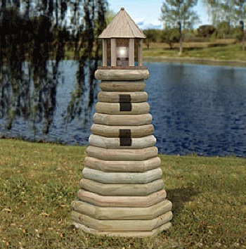 Landscape Timber Lighthouse Pattern #2041. $14.95. Revolving Light Available too! Impress your friends at the lake with this fully functional blinking Lighthouse that you make from standard landscape timbers. It makes a stately great dock marker for when your out on the lake after dark! A beautiful way to enhance your lakeside view!