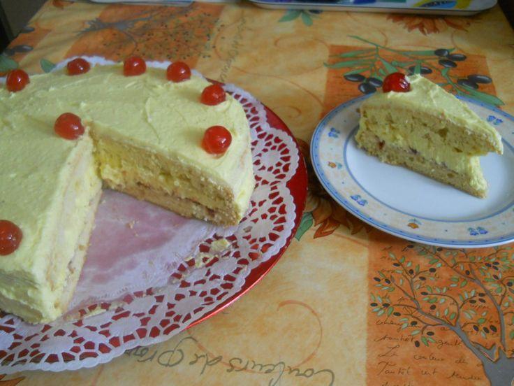 Vajkrémes torta
