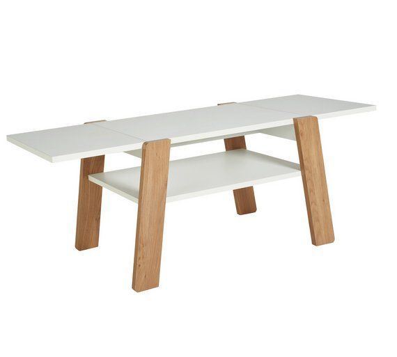 Buy Argos Home Zander Extendable Coffee Table White Coffee