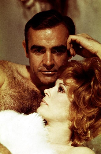 Sean Connery.  If I were that lady, I'd mash my face into his chest hair so hard my nose would break.