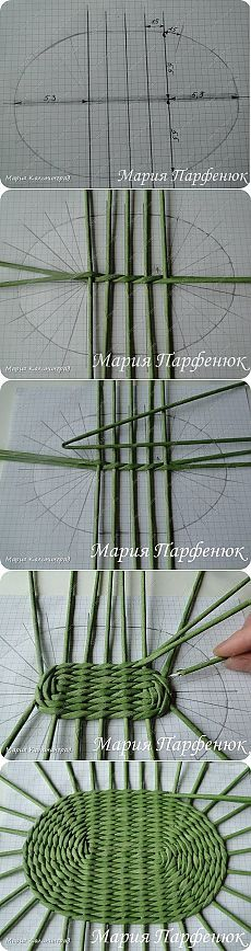 Weaving an oval basket bottom                                                                                                                                                     More