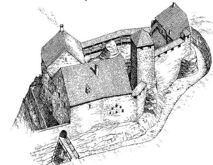 Reconstruction of Nordburg Castle in the middle of the 14th Century by Roger Mayrock