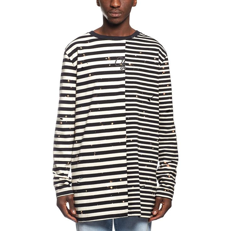 Striped LS tee from the F/W2016-17 Off-White c/o Virgil Abloh collection in…