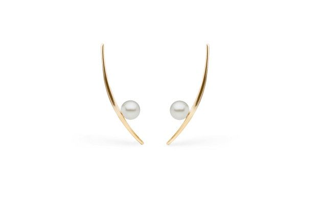 Off the Cuff - Veronika Borchers for Pearl Collective 14k gold and pearl earrings
