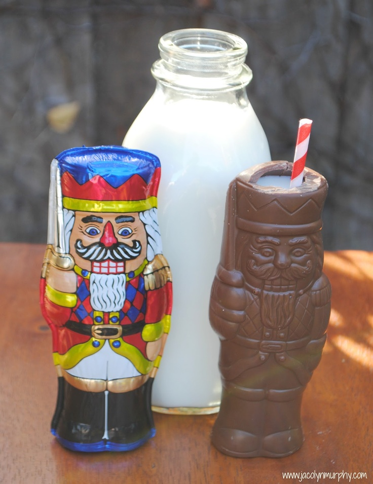 milk served in a chocolate nutcracker ...
