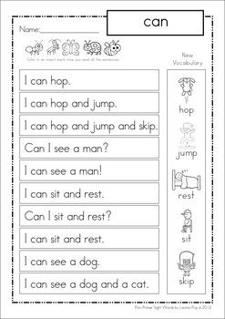 Phrases for Homework BUNDLE: includes Pre-Primer, Primer and first grade sight words! Great unit to use with beginning readers as well as struggling readers in higher classes!