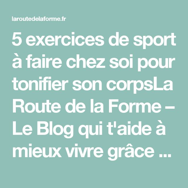 17 best ideas about sport chez soi on pinterest renforcement des muscles exercices de yoga. Black Bedroom Furniture Sets. Home Design Ideas