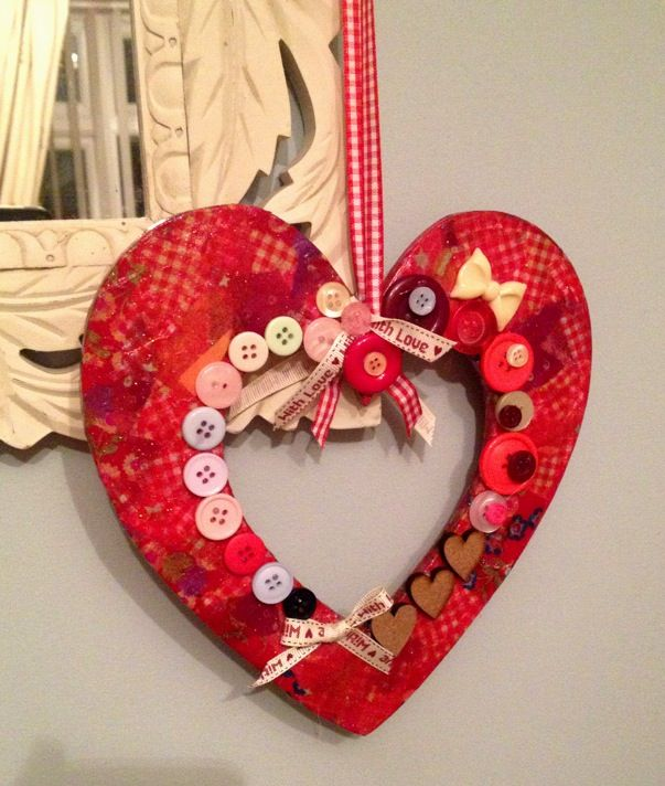 Decopatch hanging heart decoration