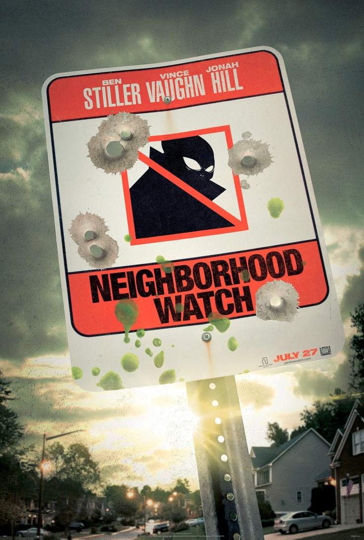 First poster for Neighborhood Watch