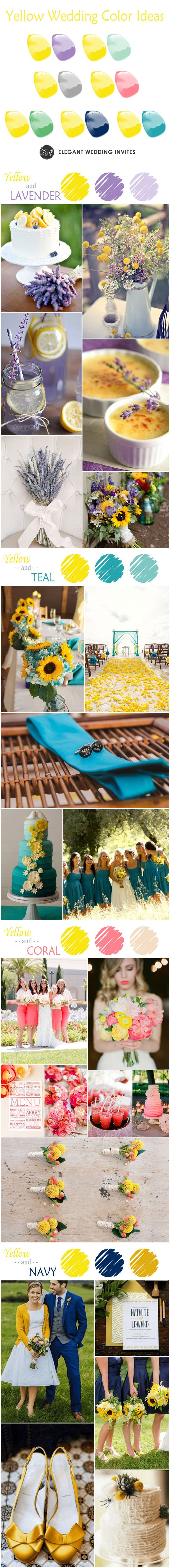7 Great Yellow Wedding Color Ideas 2015 Trends