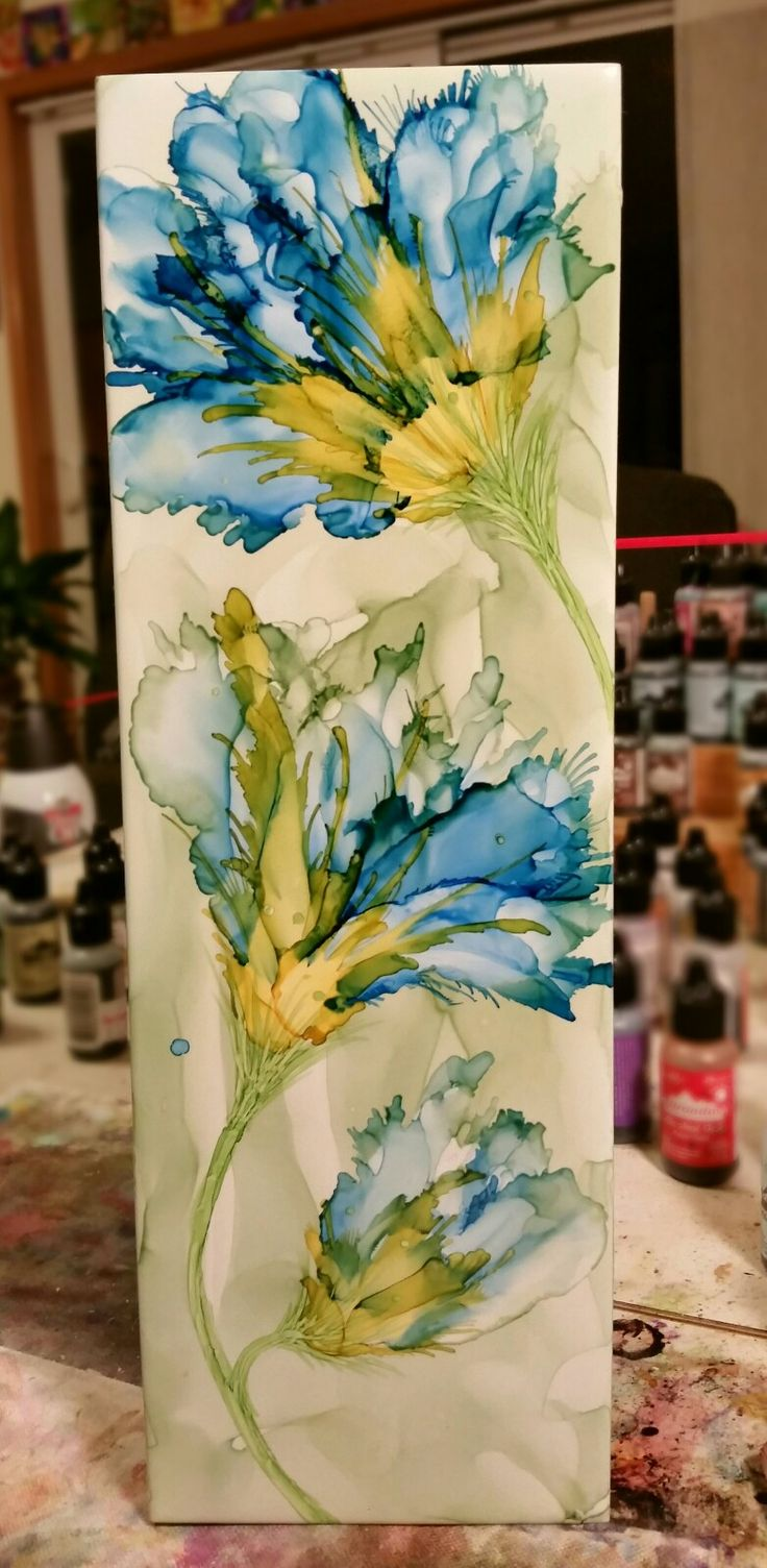 25 Best Ideas About Alcohol Ink Tiles On Pinterest