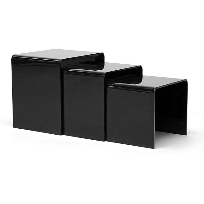 LiAdd Contemporary Versatile Design To Your Home Decor With A Set Of Acrylic Nesting End Tables LiliLiving Room Furniture Includes Three