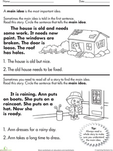 Worksheet 3rd Grade Main Idea Worksheets 1000 images about main idea on pinterest anchor charts texts worksheet