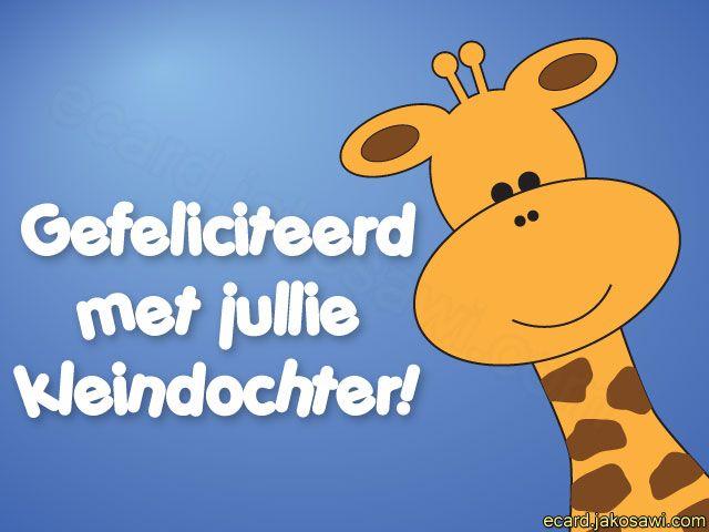 kleindochter giraf 1401 cartoon giraf gefeliciteerd met jullie kleindochter
