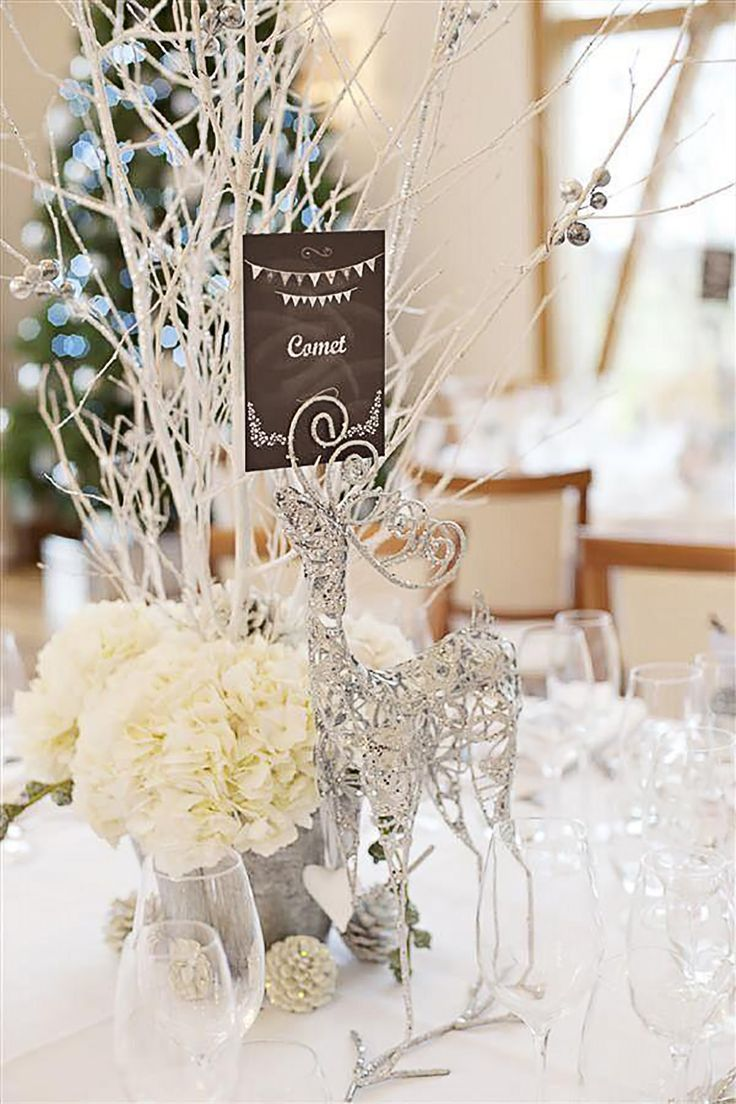 76 best chwv wedding table names images on pinterest wedding inspiring winter and christmas theme wedding centerpieces are simple and still very stylish ideas is to put some christmas cheering atmosphere junglespirit Images