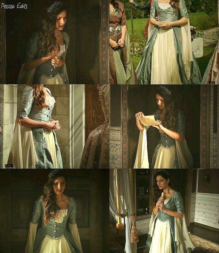 muhtesem yuzyil kosem, magnificent century kosem, fahriye sultan, blue dress…