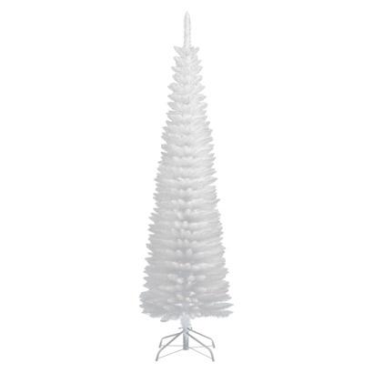 6' White Slim Tinsel Tree