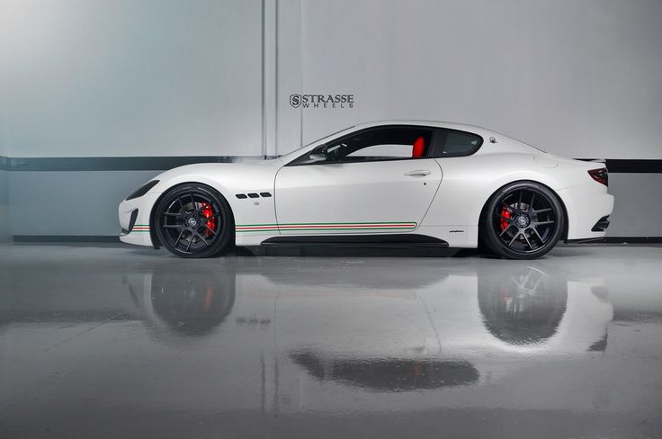 Patriotic Maserati GranTurismo S Poses On Satin Black Wheels