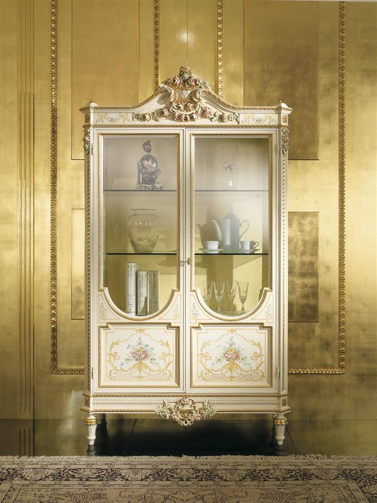 Antique Italian Classic Furniture Dining Room In Venetian Baroque Style French CabinetDrinks