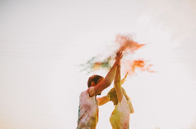 Engagement Session with Holi Powder by Benj Haisch