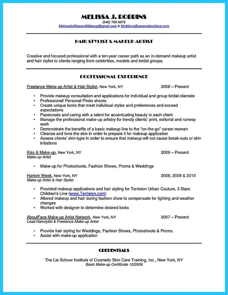 Mac Makeup Artist Resume Samples Template Free Templates Freelance