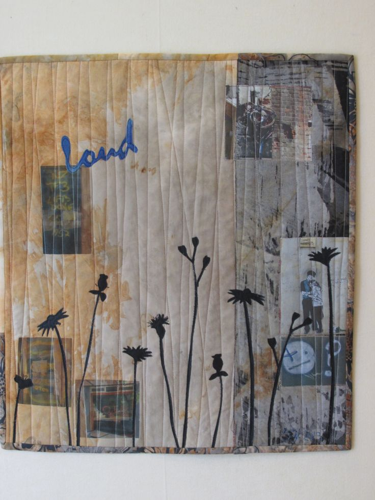 """""""Speak Softly"""" A quilt by Barbara Kavermann (inspired by a visit to Christchurch 2 years post quake)"""