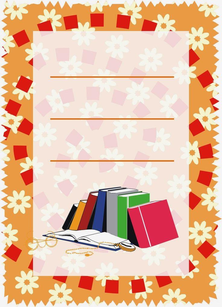 Caratulas para Cuadernos: Libros Apilados Multiusos para la Secundaria