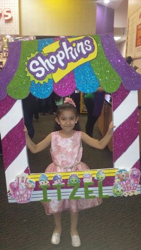 My daughter Itzel party picture Shopkins Frame.