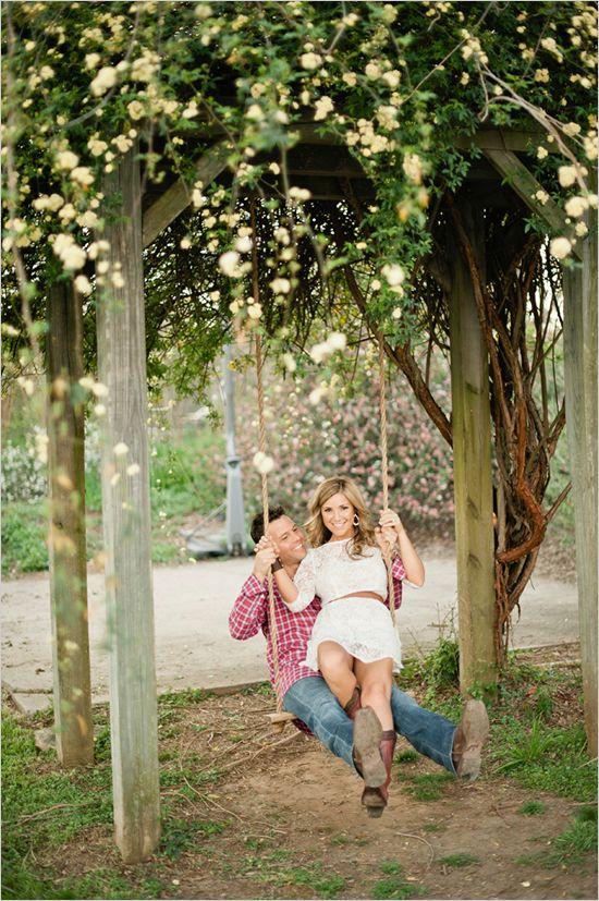 Cute pic idea!: Engagement Pictures, Engagement Photos, Anniversaries Pictures, Engagement Pics, Trees Swings, Photo Idea, Engagement Shooting, Pictures Idea, Engagement Photo Outfit
