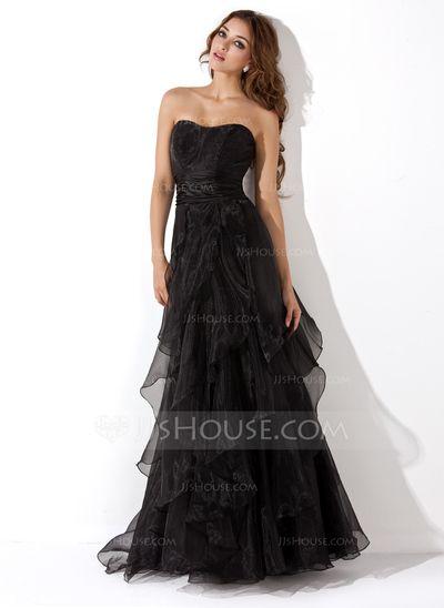 Evening Dresses - $138.99 - A-Line/Princess Sweetheart Floor-Length Organza Evening Dress With Ruffle (017013725) http://jjshouse.com/A-Line-Princess-Sweetheart-Floor-Length-Organza-Evening-Dress-With-Ruffle-017013725-g13725?ver=1