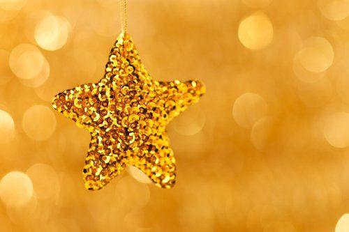 gold hanging star background image
