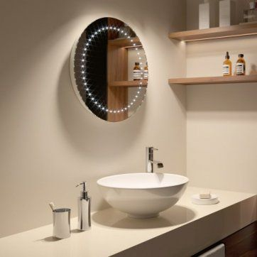 500x500mm Orb LED Mirror - Battery Operated [PT-MC144] - £109.99 : Platinum Taps & Bathrooms