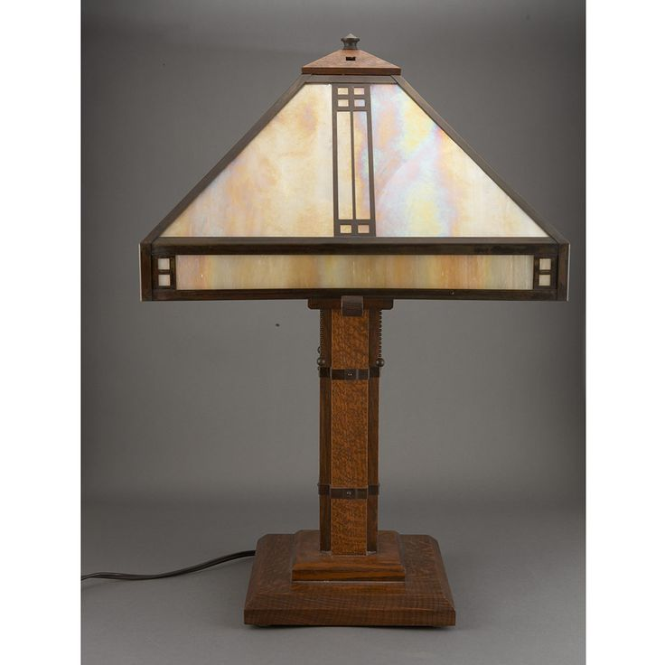Arroyo Craftsman American, Late 20th Century Prairie Table Lamp, Model No.  PTL