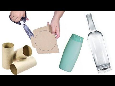 5 Manualidades con Reciclaje - YouTube